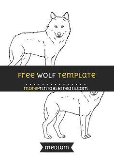 Free Wolf Template - Medium