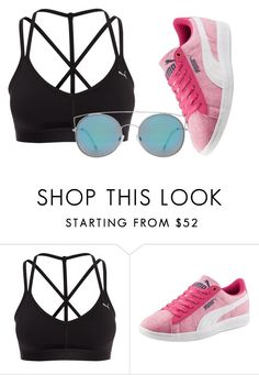 """Untitled #41"" by tinacreations ❤ liked on Polyvore featuring Puma, MANGO and Sheinside"
