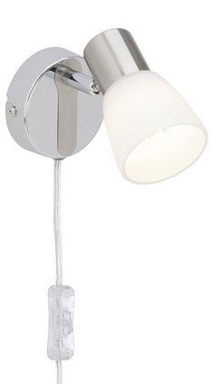 Brilliant G46112/77 Janna Applique Murale LED avec Variateur et Interrupteur 3 W E14 230 V Acier/Chrome: Amazon.fr: Luminaires et Eclairage
