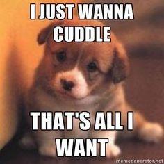 I wanna cuddle