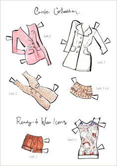 Ready to wear icons   -Munecas de papel   Louis Vuittuon