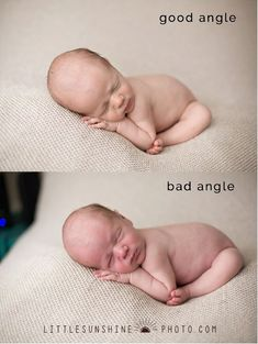Did I mention angles? Yeah, that.  I can't stress enough how much this can really make or break your photos for newborn photography. I'm talking about what angle you position yourself at in relation to your subject.