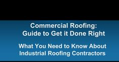 Flat Roof Installation and Repair. Your Guide to Find the Right Contractor (905) 702-2306