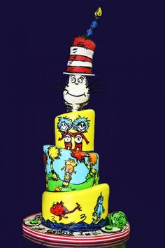 Dr. #Seuss #cake #party