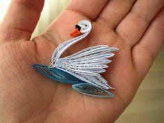 Cisne. quilling - swan