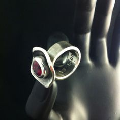 """Be Loud"" ring made from PMC silver.  :)"