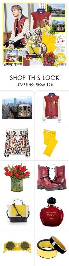 """""""Hello my sunhine..."""" by purplecherryblossom ❤ liked on Polyvore featuring Rika, Gucci, Alice + Olivia, ICE ICEBERG, Ethan Allen, Diane Von Furstenberg, Christian Dior, Linda Farrow, Marni and Bling Jewelry"""