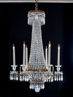 Regency Crystal Chandelier attributed to Hancock from Fritz Fryer