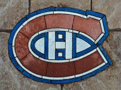 Habs logo built into my home Hockey Mom, Hockey Teams, Montreal Canadiens, Stained Glass Patterns, Stained Glass Art, Papercrete, Canada 150, Chicago Cubs Logo, Projects To Try