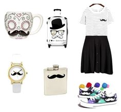 """""""moustache"""" by erinne1 ❤ liked on Polyvore featuring Bey-Berk, IKASE, Boohoo and HVBAO"""