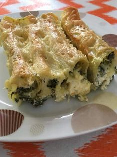 Spanakopita, Greek Recipes, Lasagna, Macaroni, Food And Drink, Chicken, Cooking, Ethnic Recipes, Rice