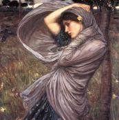 Oil painting reproductions - John William Waterhouse: Boreas 1903