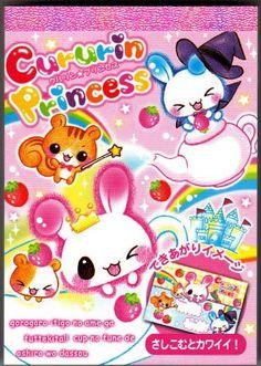 Kawaii JAPAN Q-Lia  *Hello Friends* Acrylic Sticker Sack VINTAGE