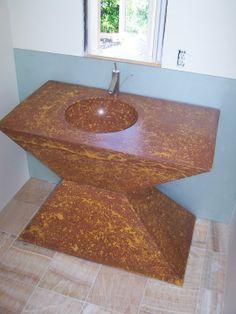 Concrete, Bathroom Vanity U0026 Sink, Custom, Handmade, Incredible!