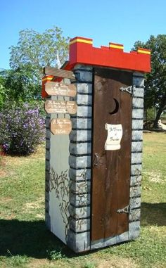 """.For the King of the House....  ONLY IN TEXAS . .  Exhibit Showcases the Lowly Outhouse as """"High  Art"""" (see photos below) Chances are you've never used one, but all this month some of the prettiest outhouses in Texas are on display in downtown San Antonio .   The """" Thunderbox Road """" art exhibit is going on  at the Menger Hotel.  There are 8 full-sized  """"Thunderboxes"""" or outhouses painted and decorated."""