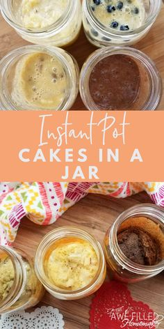 Instant Pot Cakes In a Jar I have always just adored cake in a jars! They make the perfect gift and are delicious! So I set out to come up with a paleo alternative for the instant pot! The post Instant Pot Cakes In a Jar appeared first on Guadalupe Pratt. Cake In A Jar, Dessert In A Jar, Paleo Dessert, Dessert Recipes, Keto Desserts, Cupcake Recipes, Cookie Recipes, Delicious Desserts, Dinner Recipes