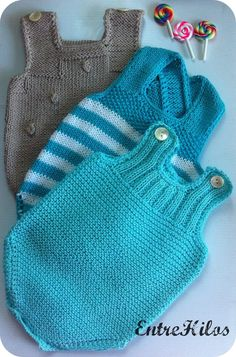 Extreme Cute Knitted Baby Rompers – Knitting And We Crochet Bebe, Love Crochet, Crochet For Kids, Knit Crochet, Knitting For Kids, Baby Knitting Patterns, Baby Patterns, Knitted Baby Clothes, Crochet Clothes