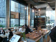 Peter's Yard, a modern Swedish cafe/coffee shop in Edinburgh, Scotland