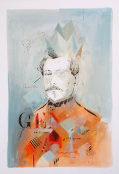 The-General - Andrew Sutherland Poppies, Contemporary Art, Scene, African, Concept, Watercolor, Artwork, Painting, Inspiration