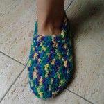 zapatillas super fáciles a ganchillo