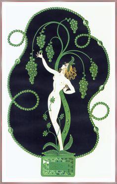 Costume Design - Erte - WikiPaintings.org - Emerald