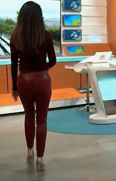 Red Leather Trousers, Tight Leather Pants, Itv Weather Girl, Charlotte Hawkins, Lzzy Hale, Penelope, Lucky Man, Tv Presenters, Leather Fashion