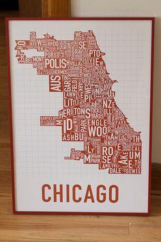 The classic Chicago neighborhood map