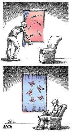 100 Anti-System Caricatures from Exiled Iranian Cartoonist Mana Neyestani – Salomé Pérez de Yébenes Balsalobre – Join in the world of pin Pictures With Deep Meaning, Deep Images, Caricatures, Cartoon Drawings, Cartoon Art, Cartoon Characters, Cartoon Memes, Cartoons, Satirical Illustrations