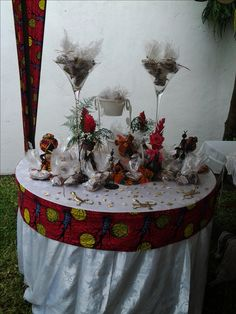 African Wedding Theme, African Theme, Reception Decorations, Table Decorations, Traditional Wedding Decor, African Princess, African Design, Diy Wedding, Wedding Ideas