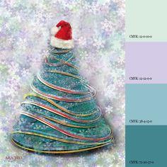 color harmony and christmas tree