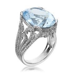 Mark Patterson Aquamarine & Diamond Ring