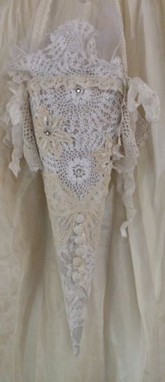 Romantic Shabby Wedding Sleeve Tussie Mussie by LonelyHeartCowgirl