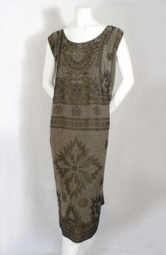 Beaded silk crepe flapper dress, 1920s MOB