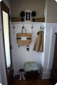 Creating a mudroom in tiny space and tips on how to drill.