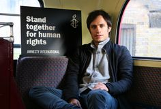 Gael Garcia Bernal stands up for human rights. Or sits down. Or something.  We've a live Q with Gael tomorrow - get your questions in now in the comments!