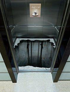 Creative sticker in an elevator...