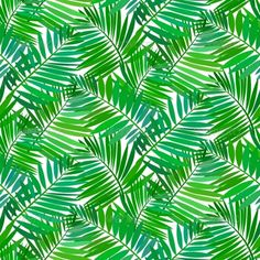 Buy Seamless Pattern with Tropical Palm Leaves by tukkki on GraphicRiver. Vector seamless pattern with leafs inspired by tropical nature and plants like palm trees and ferns in multiple green. Color Vector, Vector Design, Vector Art, Graphic Design, Paint Chevron, Mystic Symbols, Nautical Pattern, Floral Pattern Vector, Big Leaves