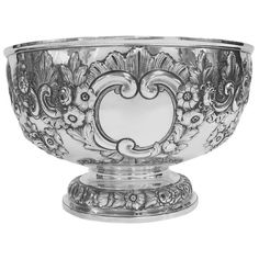 Antique English, Sterling Silver, Hand Chased Bowl. https://estatesilver.com/index.php?route=product/product&product_id=346