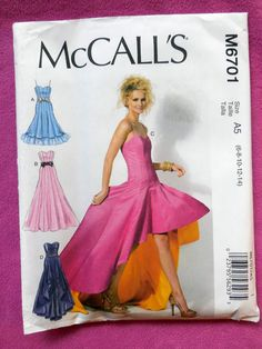 McCall's 6701  Super Wild Special Occasion Gown  New by Clutterina
