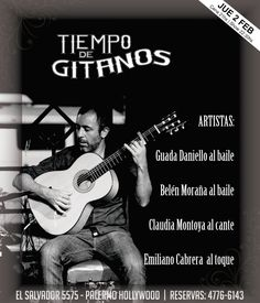 Mañana los esperamos con el show de Guada Daniello y Belén Moraña  baile, Claudia Montoya al cante y Emiliano Cabrera  al toque.   Ya podes reservar al 4776 6143 Cena Show, Flamenco, Dance