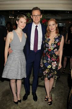 """Mia Wasikowska, Jessica Chastain and Tom Hiddleston arrive at Legendary Pictures and Universal Pictures celebrate Bergdorf Goodman Windows inspired by the film, """"Crimson Peak""""."""