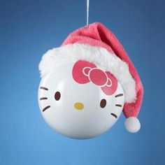 "Hello Kitty with Pink Santa Hat Shatterproof Christmas Ball Ornament 3.25""(80MM)"