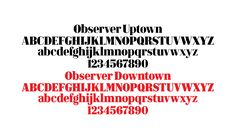 Bespoke typeface for the redesign of New York Observer. Design by Triboro.