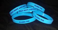 Blue Silicon Padre Pio Foundation of America Bracelet