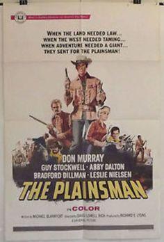 THE PLAINSMAN - DON MURRAY / ABBY DALTON - ORIGINAL AMERICAN 1SHT MOVIE POSTER