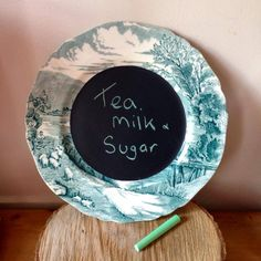 Blackboards, Vintage China, Mix Match, Upcycle, Music Instruments, Plates, Tea, Facebook, How To Make