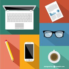 Business flat illustration, free for download and use