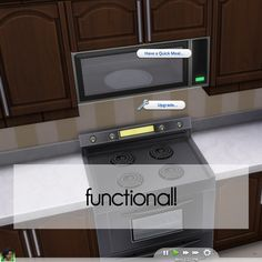 Lana CC Finds - Wall Microwaves by Madhox (Sims 4) Functional Wall...