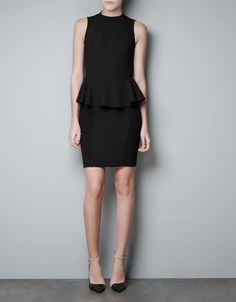 PEPLUM DRESS - Dresses - Woman - ZARA