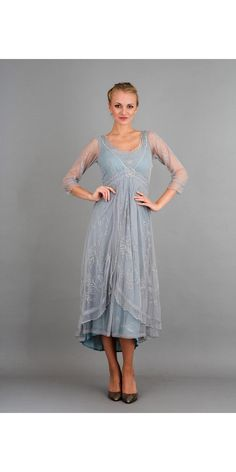 A classy and elegant Nataya 40163 Downton Abbey Tea Party Gown in Sunrise that will go perfectly for any wedding, party or special event.